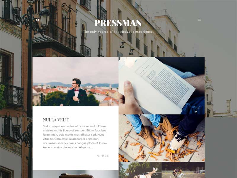 Pressman - Minimal WordPress Blog Theme