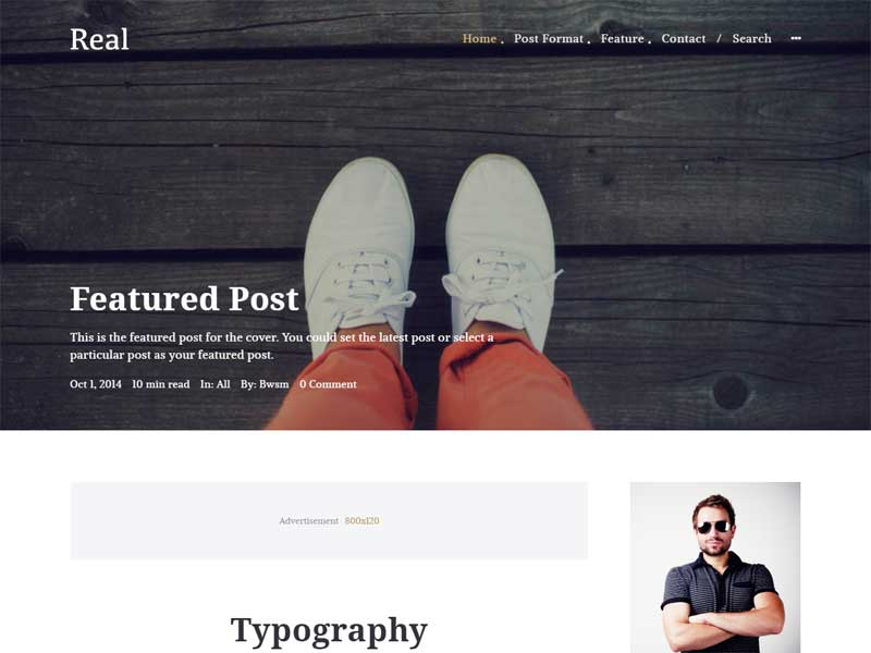 Real Blog Magazine WordPress Theme