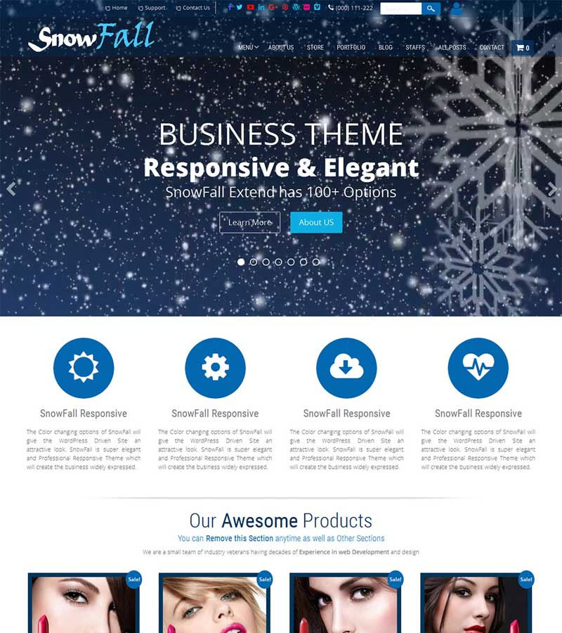 snowfall Free WordPress Themes