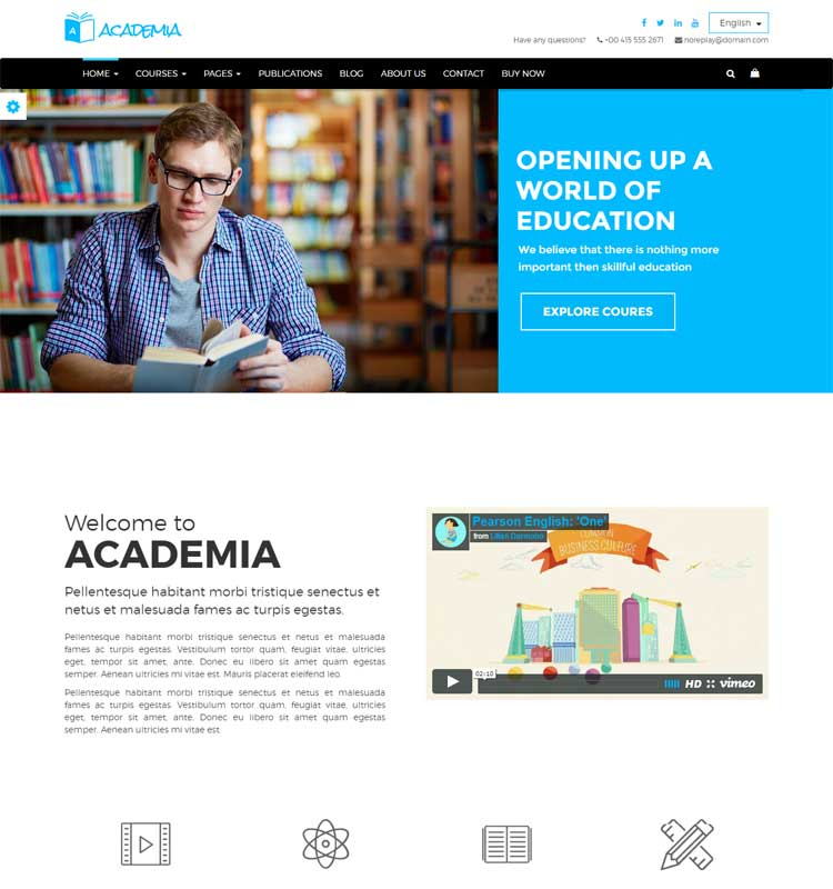 Academia - Responsive Education Theme For WordPress