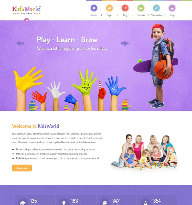 KidsWorld - Children Kindergarten WordPress Theme