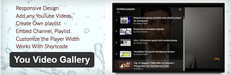 YouTube Video Gallery WordPress Plugin