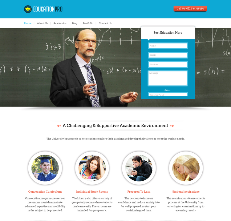 Education Pro WordPress Theme