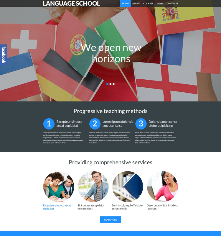 Language School Responsive WordPress Theme