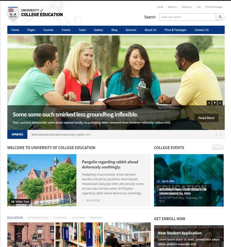 University | Education Responsive WordPress Theme