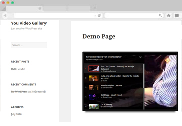 YouTube – Video Gallery Plugin