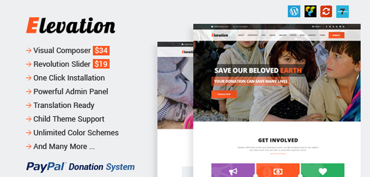 ELEVATION – The Best Charity WordPress Theme