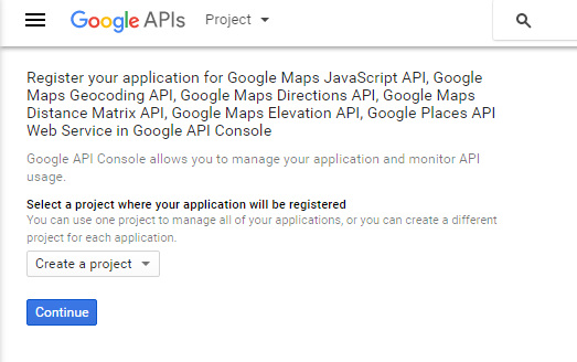 Google API Project