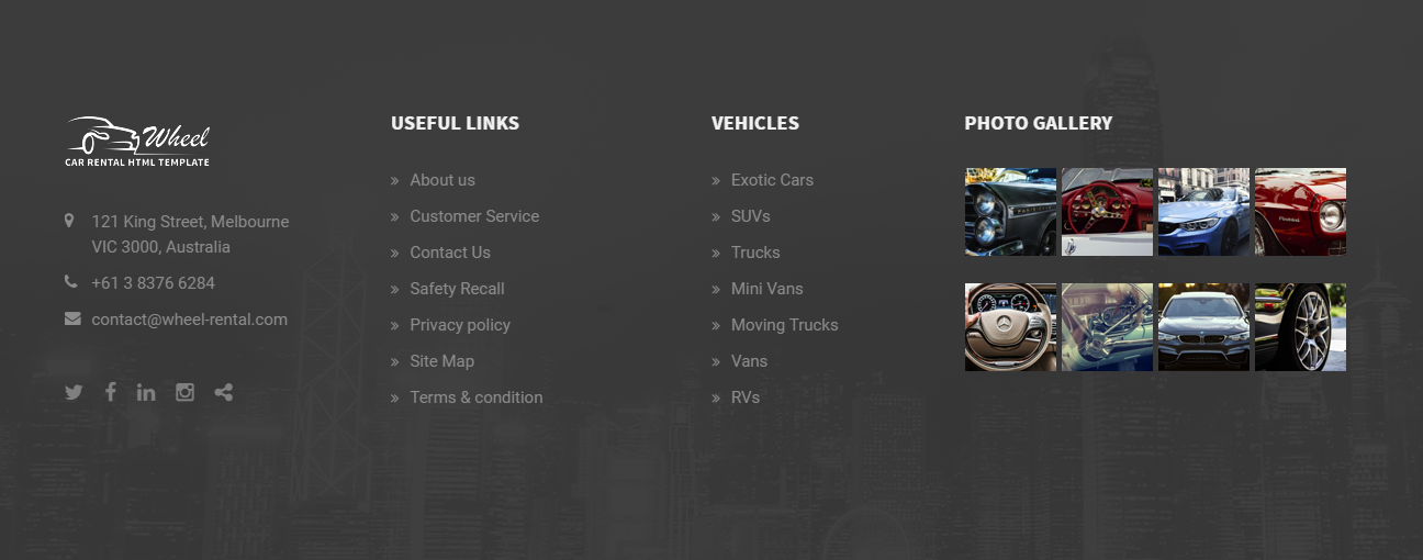 Wheel – Car Rental & Booking Website Template