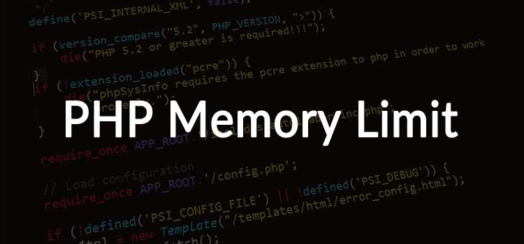 PHP Memory Limit