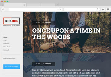 Reader Website Template