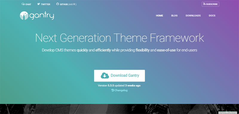 Gantry Most Popular WordPress Frameworks