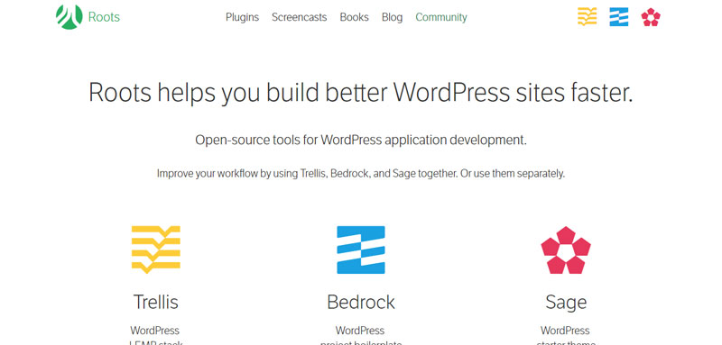 Roots Most Popular WordPress Frameworks