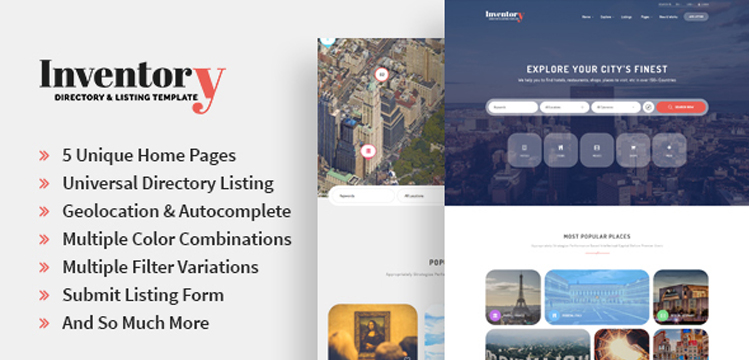 Inventory – Responsive Directory Geolocation & Listings HTML5 Template