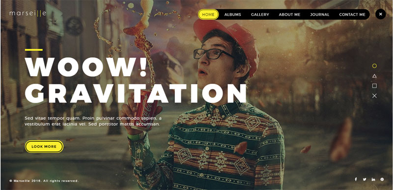 Marseille - Creative Photography WordPress Theme