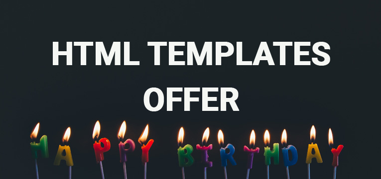 HTML Templates offer on birthday