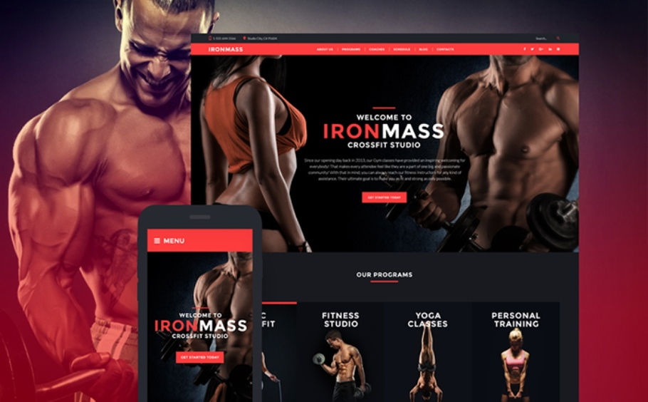IronMass - Gym Fitness & Bodybuilding WordPress Theme