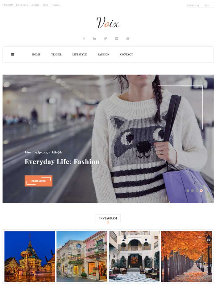 Voix Simple WordPress Theme