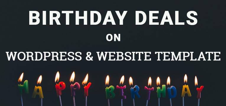 birthday deals on WordPress and Website Template
