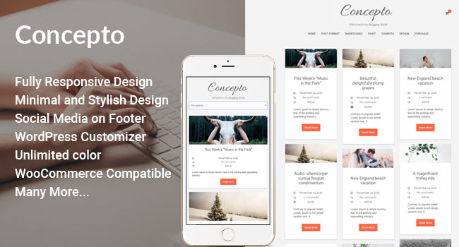 Concepto Lite – Personal Blogging WordPress Theme