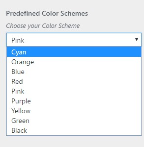 Predefined Color Schemes