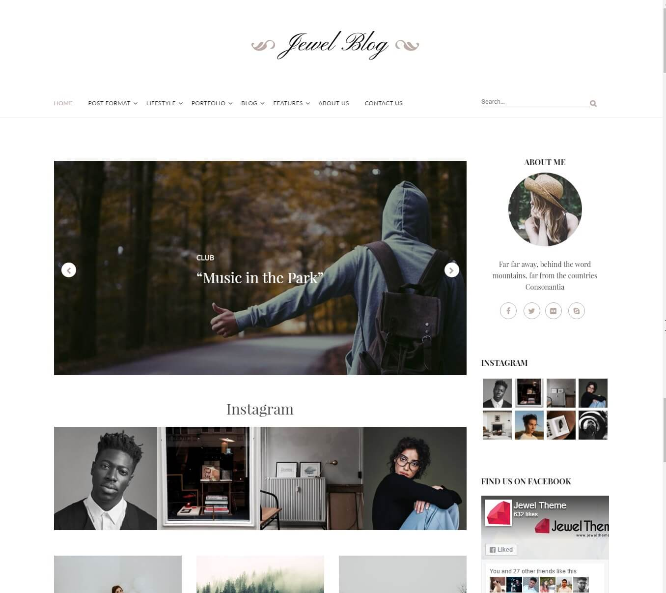 Jewel Blog Personal Blogging Theme