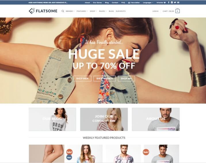 Flatsome For eCommerce Business Theme
