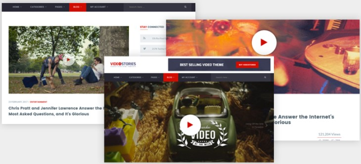 WordPress Video Theme – Showcase Videos with VideoStories