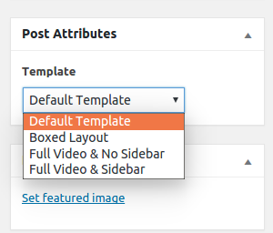select post type template layout