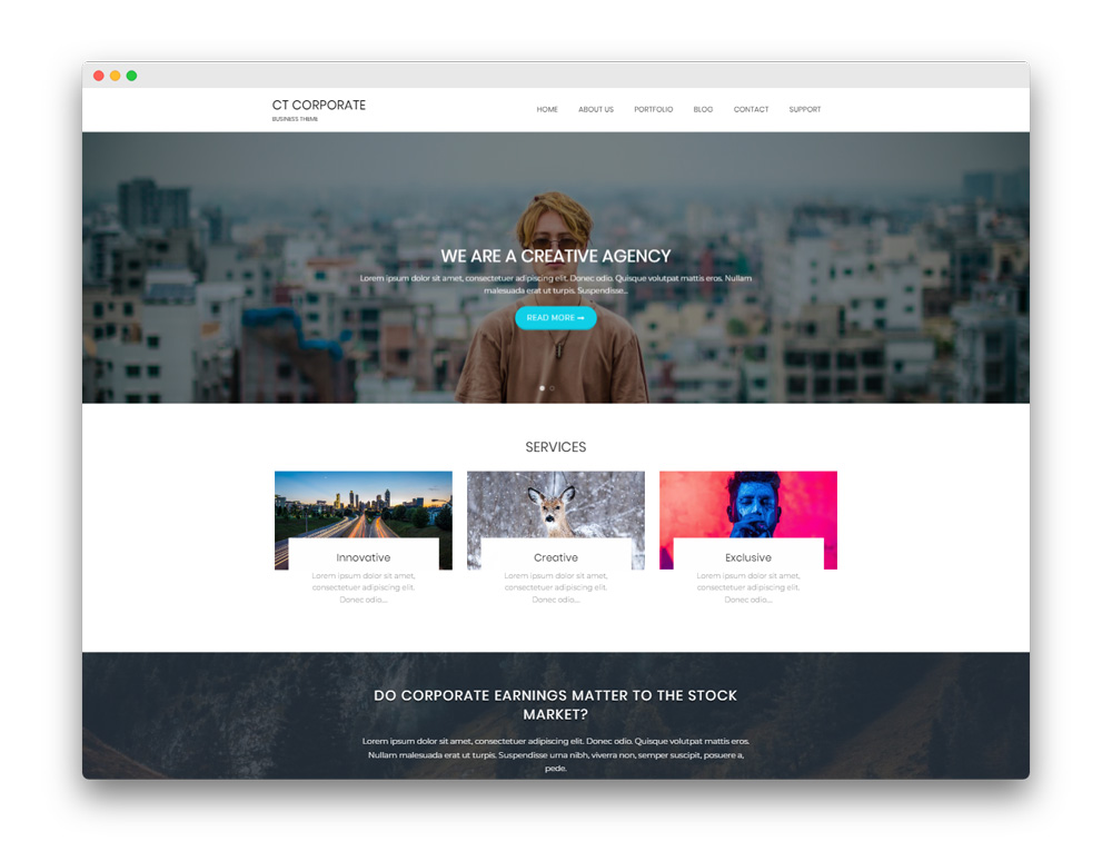 CT Corporate WP Theme