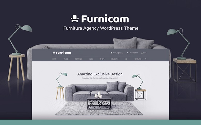 Furnicom - Free Furniture Store WordPress Theme