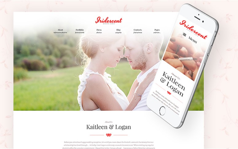 Iridescent - Free Wedding Album WordPress Theme
