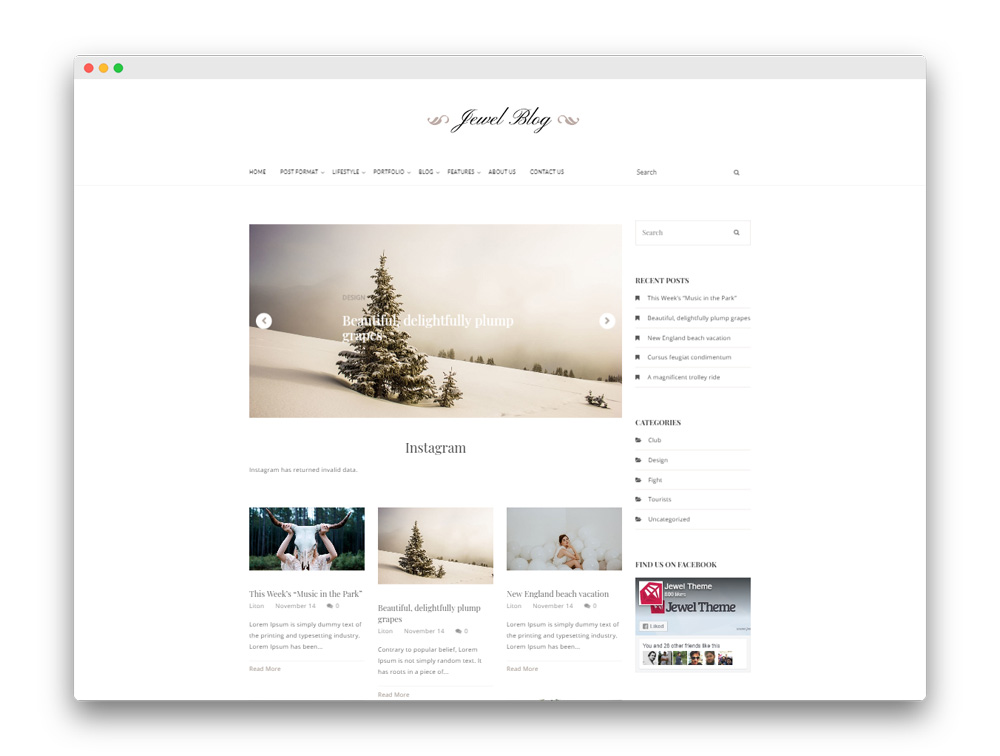 Jewel Blog Free Blogging Theme