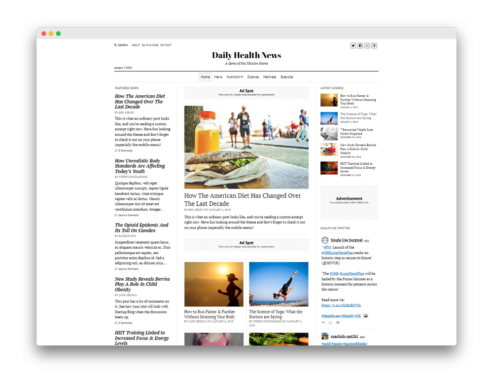 Mission News WP Theme
