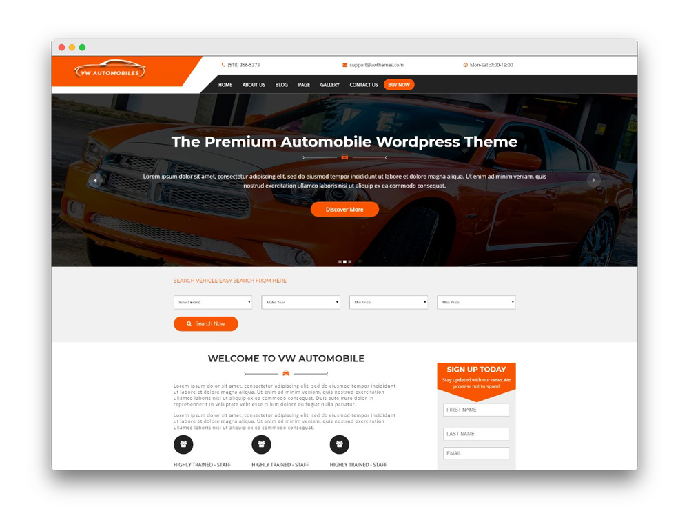 VW Automobiles Theme