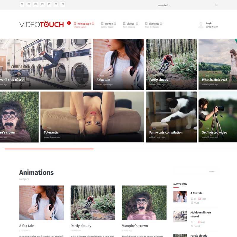 Video Touch WP Theme