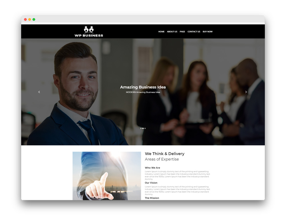 WP Business Free Theme