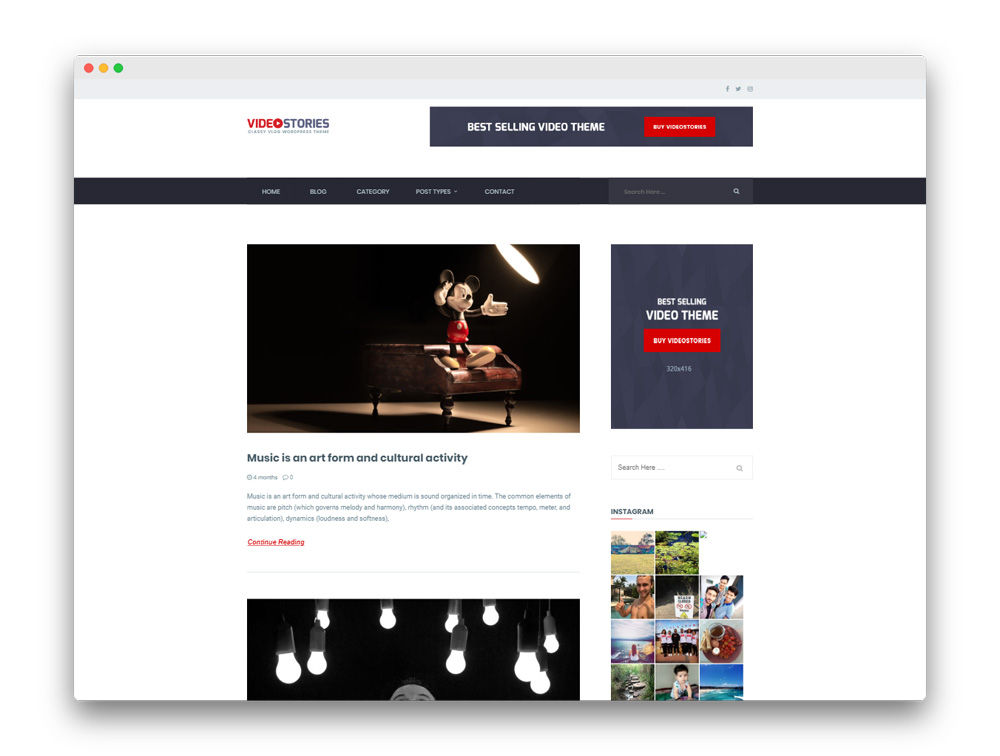 videostories WP Theme