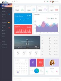 Hi5Dash - Bootstrap 4 Simple Admin Dashboard Template 1 - NullWebScripts.Com