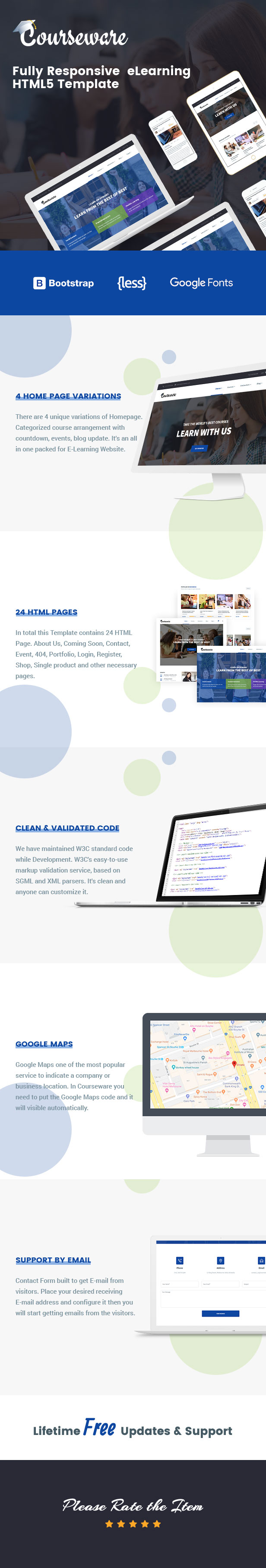Courseware HTML Template