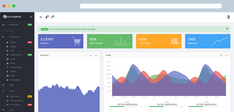 Free Vue.js Bootstrap Admin Dashboard Templates