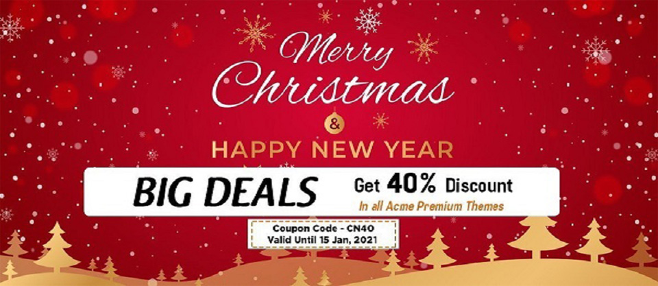 Christmas and new year deal