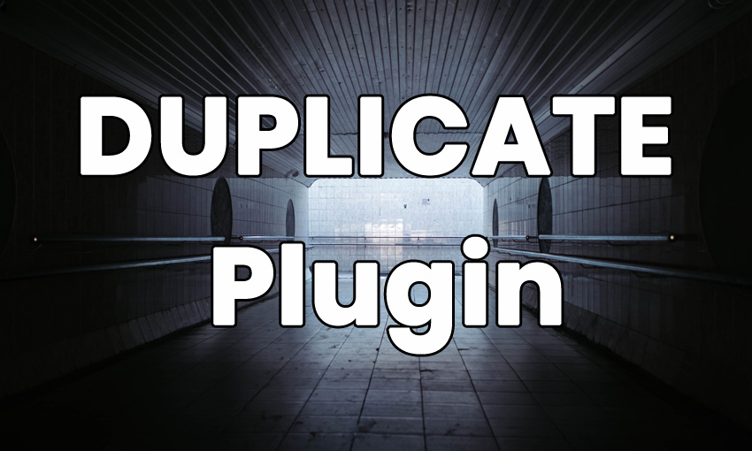 DUPLICATE PAGE AND POST plugin